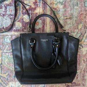 Black coach legacy crossbody handbag